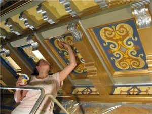 roosevelt-amy-painting-ceiling